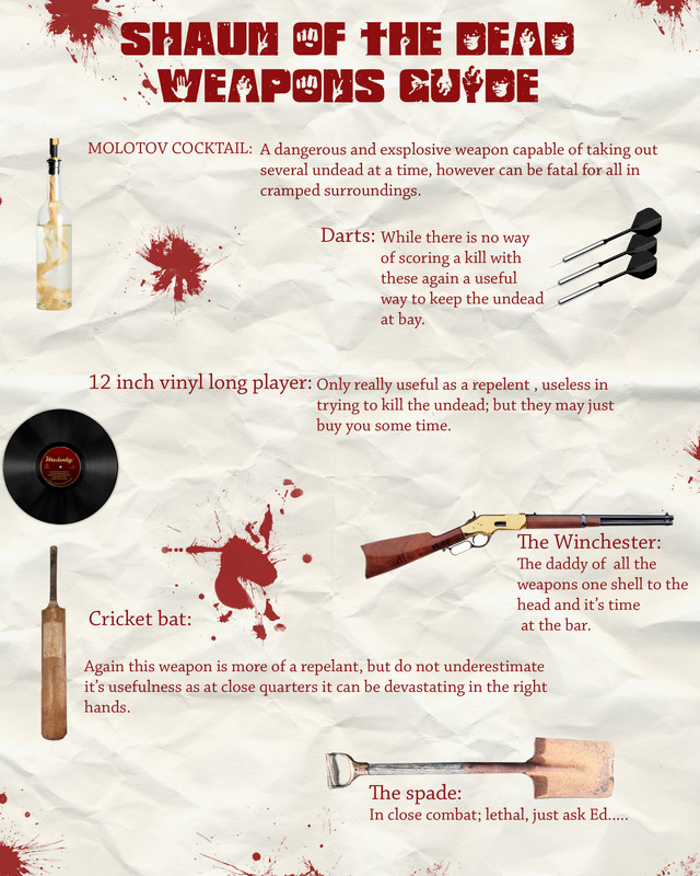 shaun of the dead weapons