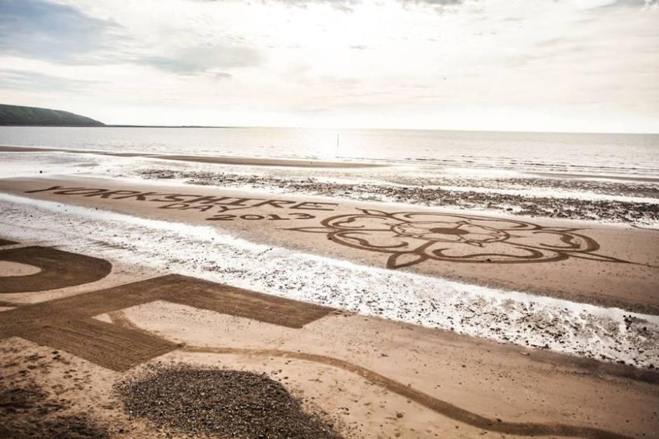 responsible fishing yorkshire day sand art