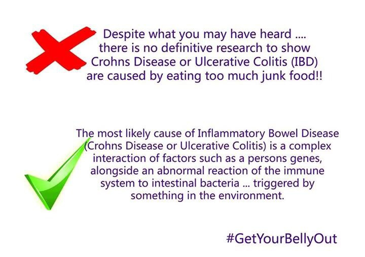 ibd and junk food get your belly out