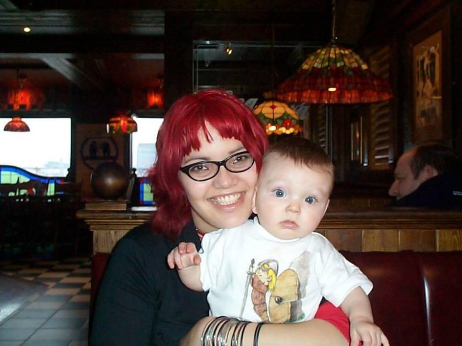 teen mum red hair struggle
