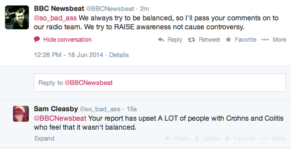 newsbeat twitter junk food ibd