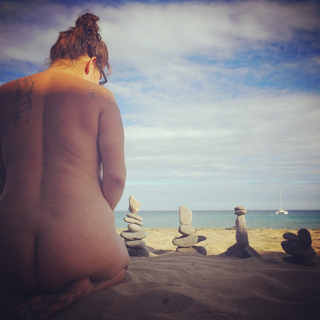 nude beach stone balancing so bad ass sam cleasby