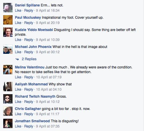 nasty Facebook comments trolling internet keyboard warriors #stomaselfie