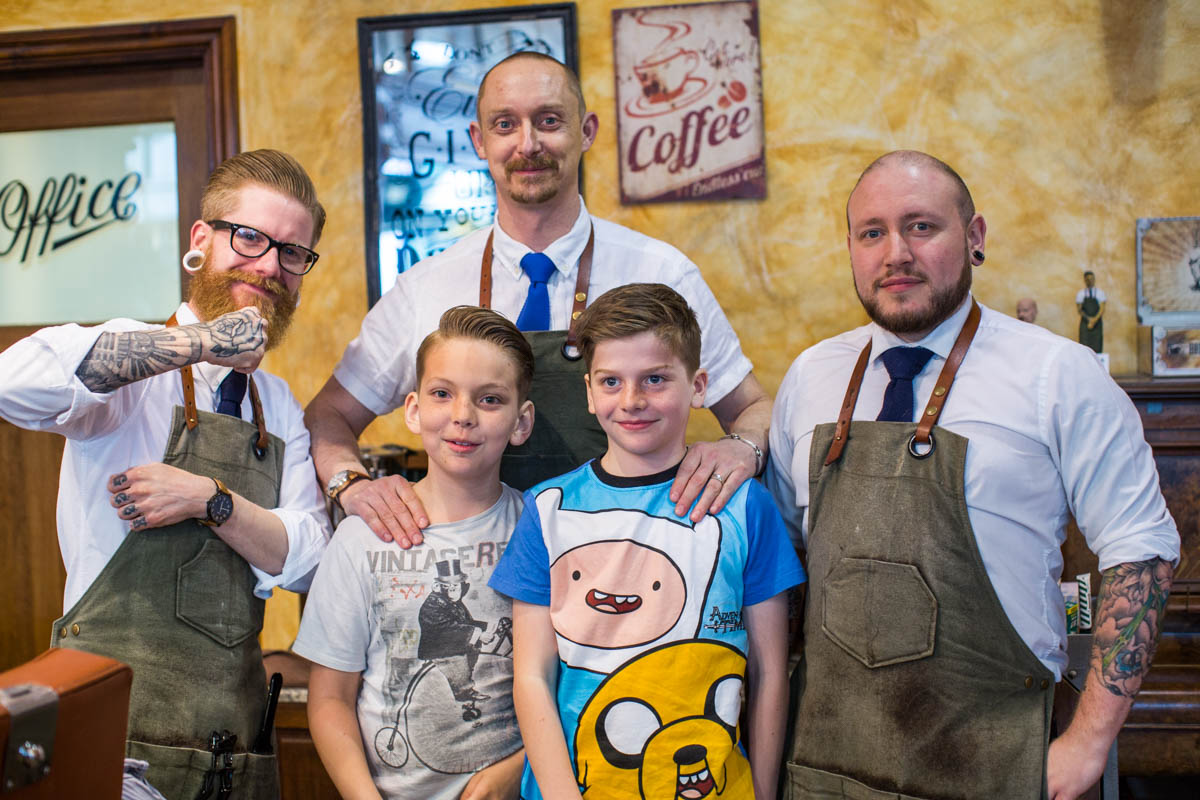 charity hair cut savills barbers sheffield
