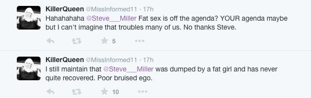 steve miller twitter fat shaming